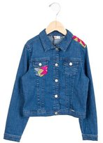 Junior Gaultier Girls' Embroidered Denim Jacket w/ Tags