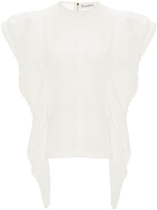 J.W.Anderson Broderie Anglaise-Trimmed Blouse