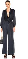 Zimmermann Suede Silk Wrap Jumpsuit