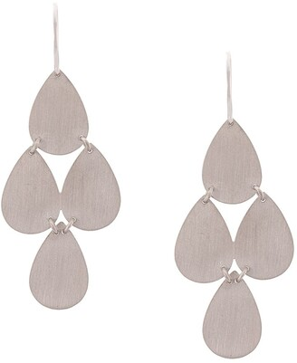 Irene Neuwirth 18kt White Gold Four Drop Chandelier Earrings
