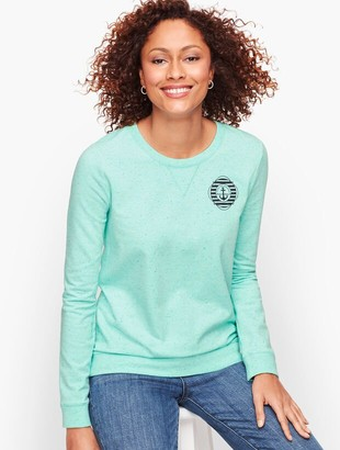 Talbots French Terry Sweatshirt - Spring Mint
