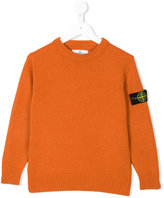 Stone Island Junior logo patch sweater