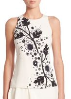 Peter Pilotto Sleeveless Printed Cady Top