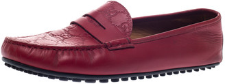 Gucci Red Guccissima Leather Penny Slip On Loafers 43.5