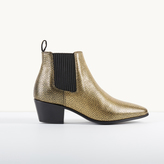 Maje Crackled leather Chelsea ankle boots
