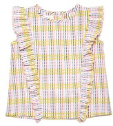 Margherita Girl's Check Ruffled Top