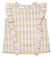 Margherita Toddler Girl's Check Ruffled Top