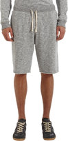 Barneys New York Melange Terry Cut-Off Shorts