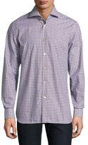 Kiton Plaid Cotton Casual Button-Down Shirt