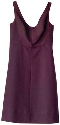 Carven Burgundy Wool Dress for Women