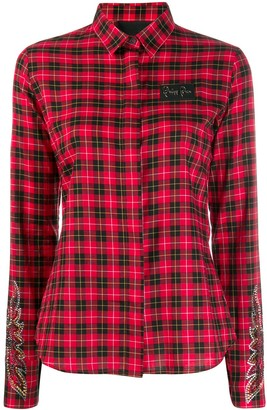 Philipp Plein Fitted Plaid Shirt