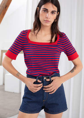 And other stories Cotton Silk Micro Knit Top
