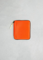 Comme des Garcons Light Orange Super Fluo Leather Line Wallet