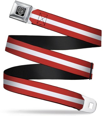 """Buckle Down Buckle-Down Seatbelt Belt - Stripes Red/White/Red - 1.5"""" Wide - 24-38 Inches in Length"""