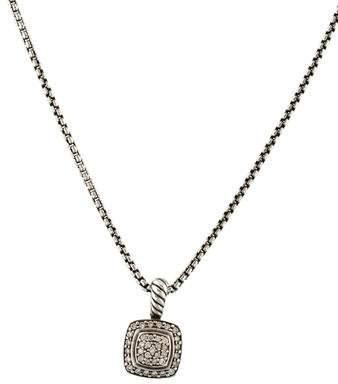 David Yurman Diamond Petite Albion Pendant Necklace