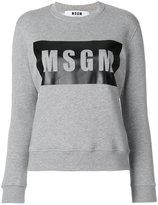 MSGM logo print sweater - women - Cotton/Viscose - XS