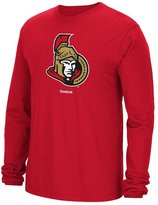 Reebok Ottawa Senators NHL Jersey Crest Long Sleeve Men's T-Shirt