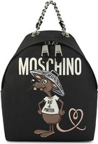 Moschino Cartoon rodent-print backpack