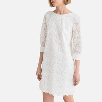 Guipure Lace Shift Dress