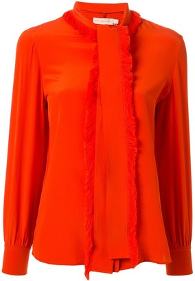 Tory Burch Samba fringed bow blouse