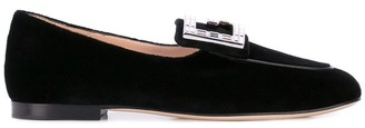 Gucci Madelyn Velvet Loafers with Crystal G