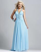 Blush Lingerie Beaded Halter Long Dress 9078