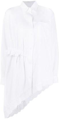 Simone Rocha Asymmetric Ruffle-Detail Shirt