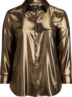 Ralph Lauren Metallic Satin Shirt