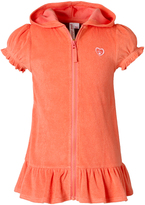 Pink Platinum Coral Ruffle-Hem Cover-Up - Toddler & Girls