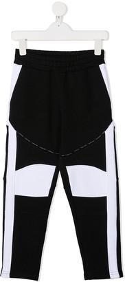 Balmain Kids Colour-Block Track Trousers