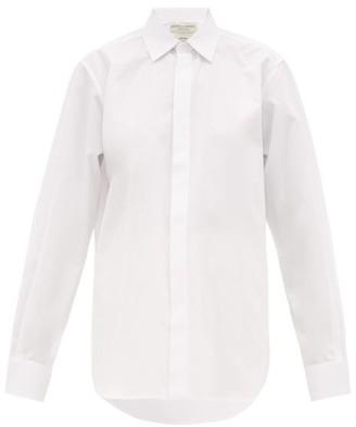 Bottega Veneta Oversized Cotton-poplin Shirt - Womens - White