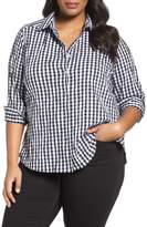 Foxcroft Plus Size Women's Gingham Shirt