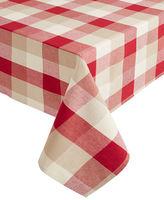 Home Studio 120-Inch Nantucket Plaid Oblong Tablecloth