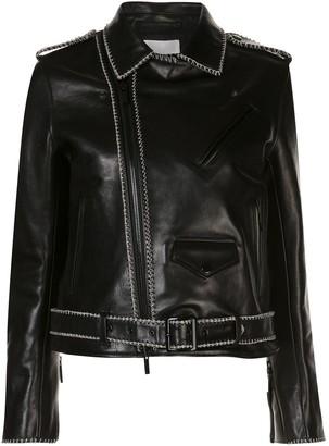 Comme des Garcons Leather Stitch Detail Jacket