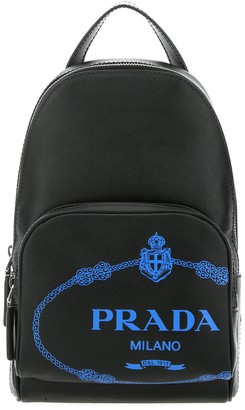 Prada Logo Motif One-Shoulder Backpack