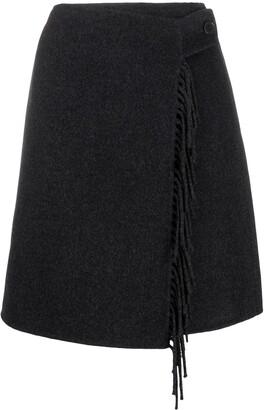 P.A.R.O.S.H. Fringed Knit Mini Skirt