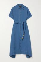 Lisa Marie Fernandez + Net Sustain Organic Linen-blend Gauze Midi Dress