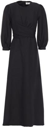 Zimmermann Gathered Silk Midi Dress