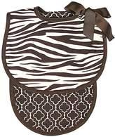 Raindrops Baby Boys Zebra Bib And Burp Set