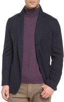 Loro Piana Lightweight Cashmere Sweater Jacket, Dark Blue