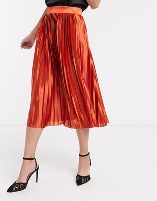 Ichi pleated midi skirt