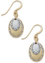 Charter Club Two-Tone Pavé Drop Earrings, Only at Macy's