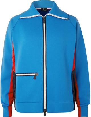 Moncler Tech-Jersey Zip-Up Ski Sweater