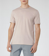 Reiss Reiss Bless Marl - Crew Neck T-shirt In Red