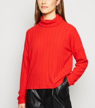 New Look Petite Ribbed Roll Neck Jumper