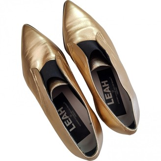 Golden Goose Gold Leather Flats