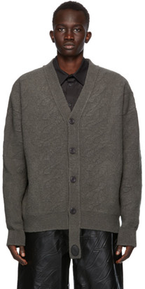 we11done Grey Felted Cable Cardigan