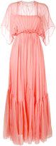 No.21 long draped pleat dress - women - Silk - 40
