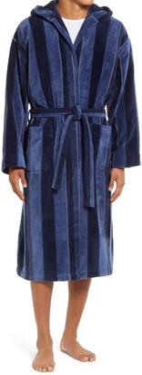 Majestic International Twilight Terry Velour Hooded Robe