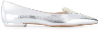 Sophia Webster Faw metallic ballerina shoes